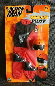 Vintage 1998 ACTION MAN Rescue Pilot Outfit & Accessories NEW&SEALED