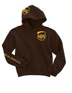 United Parcel Service HOODIE UPS Hoodie Postal Hooded Sweatshirt brown large