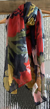 Joules Wensley Blue Floral Scarf