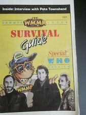 1989 WMMR Survival Guide Summer Issue/The Who/Pete Townsend Interview