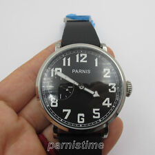 46mm Parnis Seagull Hand Winding Men Casual Watch Small Second Stainless Case