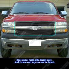 Fits 01-02 Chevy Silverado 2500/3500 Black Main Upper Billet Grille