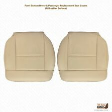 2004 Ford F150 Lariat DRIVER & PASSENGER Bottom Leather Seat Cover Light Tan