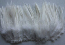 """100+ Ivory/cream 5-7"""" saddle COQUE rooster hackle Feathers for craft, Cynthia's"""