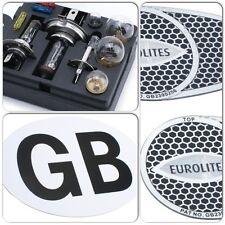 Car Spare Bulb & Fuse Kit & White GB Sticker Badge & Pair Eurolites Beam Benders