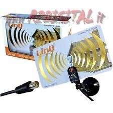 ANTENNA TV DVB-T UHF 42 dB DIGITALE TERRESTRE con VENTOSA RADIO TELEVISORE FM
