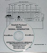HP  8643A CLIP Manual Set (GOOD SCHEMATICS- 4 Volumes)
