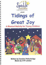 Tidings de grande joie musicale nativité jouer par Petherbridge, caroli