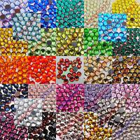 Iron-On Rhinestones Crystal DMC-Hotfix FlatBack Choose Colors & Quantity