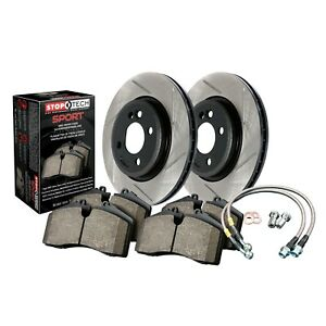 StopTech Disc Brake Pad and Rotor Kit Rear for 2012 - 2013 Jeep Grand Cherokee