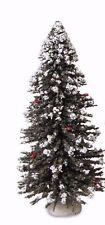 "Byers Choice New 9"" Snowy Christmas Tree Accessory w/Plastic Storage Cylinder"