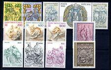 VATICANO-Annata completa 1982 - Francobolli Nuovi Perfetti + Foglietto - MNH **