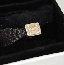 Gen. Pandora 14ct Gold Lucky Dice with Diamonds Charm - 750469D -  retired