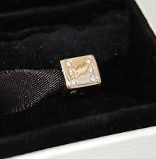 Gen. Pandora 14ct Gold Lucky Dice with Diamonds Charm - 750469D -  retired