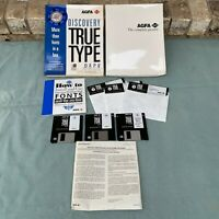 AGFA Discovery True Type Pack Fonts 46 Scalable Clip Art 1992 3.5 5.25 Floppy