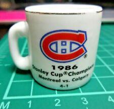 1986 STANLEY CUP CRAZY MINI MUG MONTREAL VS CALGARY CHAMPIONS CUP VTG COLLECTOR