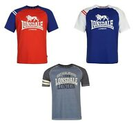 MENS LONSDALE RAGLAN PRINT TSHIRT RRP £24.99-VARIOUS COLOURS/SIZES-SALE 10% OFF