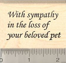 Sympathy in loss of pet Rubber Stamp WM D7717 dog cat