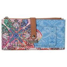 NEU Kleines Portemonnaie Geldbörse mit Rosen bestickt wahlweise 4 Farben