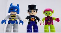 3 LEGO Duplo Green Goblin Figure Super Hero Batman Villian The Penguin Figures