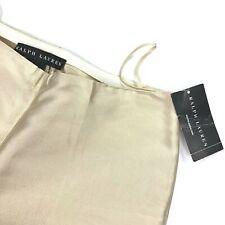 NEW Ralph Lauren Black Label Women's 100% Silk Gold Metallic Pants $898 • Size 4