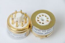 1pc Gold plated E80CC 6085 CV5989 to 6SN7 6N8P B65 tube converter adapter