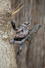 Winged Fairy King Tree Peeker Branch Hugger Garden Ornament Novelty Long Beard