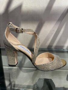 Jimmy Choo Carrie Shimmer Sandal