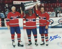 GUY LAFLEUR SIGNED  MONTREAL CANADIENS 8X10 PHOTO  PROOF   RICHARD BELIVEAU