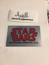 Old school BMX GHP PRO STAR BARS & SIGNATURE WC HANDLEBAR STICKER chrome decal