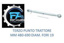 TERZO PUNTO MECCANICO TRATTORE MM. 480-690 DIAM. FORI 19 MM