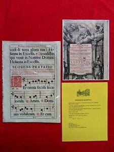 1728 MUSIC LEAF 10.5 X 14.5 CANON MISSAE JUXTA FORMAM EDITIONIS ROM/ CERTIFICATE