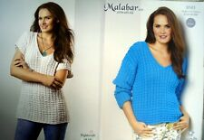 Ladies Cardigan Camisole Top KNITTING PATTERN 30-38 inch  Cotton DK PATONS 7123