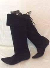 Nine West Black Knee High Suede Boots Size 39