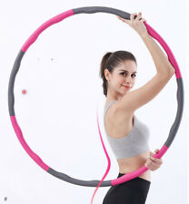 Portable Weighted Fitness Hula Hoop Ring 6, 7, 8 Section Fun Exercise Gym Weight