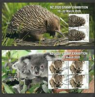 Australia-2020 NZ Stamp exhibition set of 4 sheets- fine used -cto