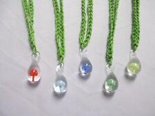 LIME GREEN HEMP Necklace Glass Mushroom Pendant SHROOM - You Choose Color Charm