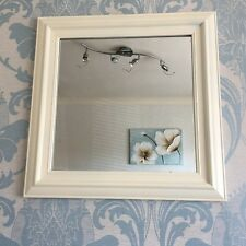 vintage cream wall mirror square frame dorset country style wall mirror 55x55cm
