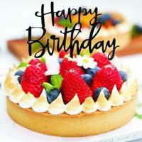 Happy Birthday Cake Topper Insert Card Cupcake Birthday Decoration Party L3P1