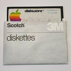 "⭐️ Apple Diskware Typing Tutor Apple II 5.25"" Floppy Disk (See Description)"