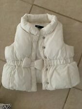 Baby Gap white puffer vest jacket coat girl 6-12m