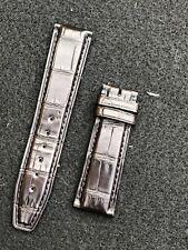 Iwc midnight brown alligator watch strap 20mm Portofino Davinci Portuguese New
