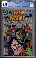 Teen Titans 48 CGC Graded 9.0 VF/NM 1st Halequin Newsstand DC Comics 1977