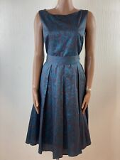 LAURA ASHLEY 50s Style Fit And Flare A Line Belted Dress Size 14
