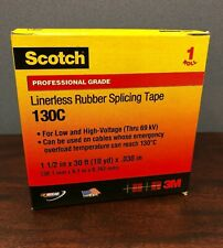 """*PACK OF 10* Scotch 3M Linerless Rubber Splicing Tape 130C, 1-1/2"""" Width, 30 ft"""