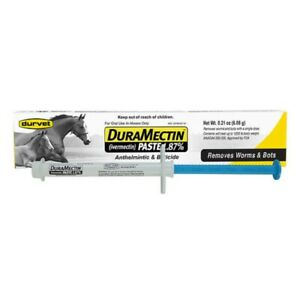 DuraMectin HORSE DEWORMER PASTE 6.08 g For horses Removes worms bots Single dose