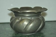 Vintage Peltro Hammered Pewter Small Pot shaped Holder Dish Bowl