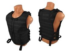 Tactical Modular Vest military army paintball black airsoft chest rig molle pals