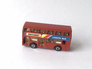 MATCHBOX BUS ROUGE LONDONIEN 1/124 VINTAGE 1981 JEU JOUET LESNEY ENGLAND