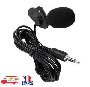 Mini Micro-Cravate 3.5mm Active Clip-sur Microphone pour Téléphone Enregistremen